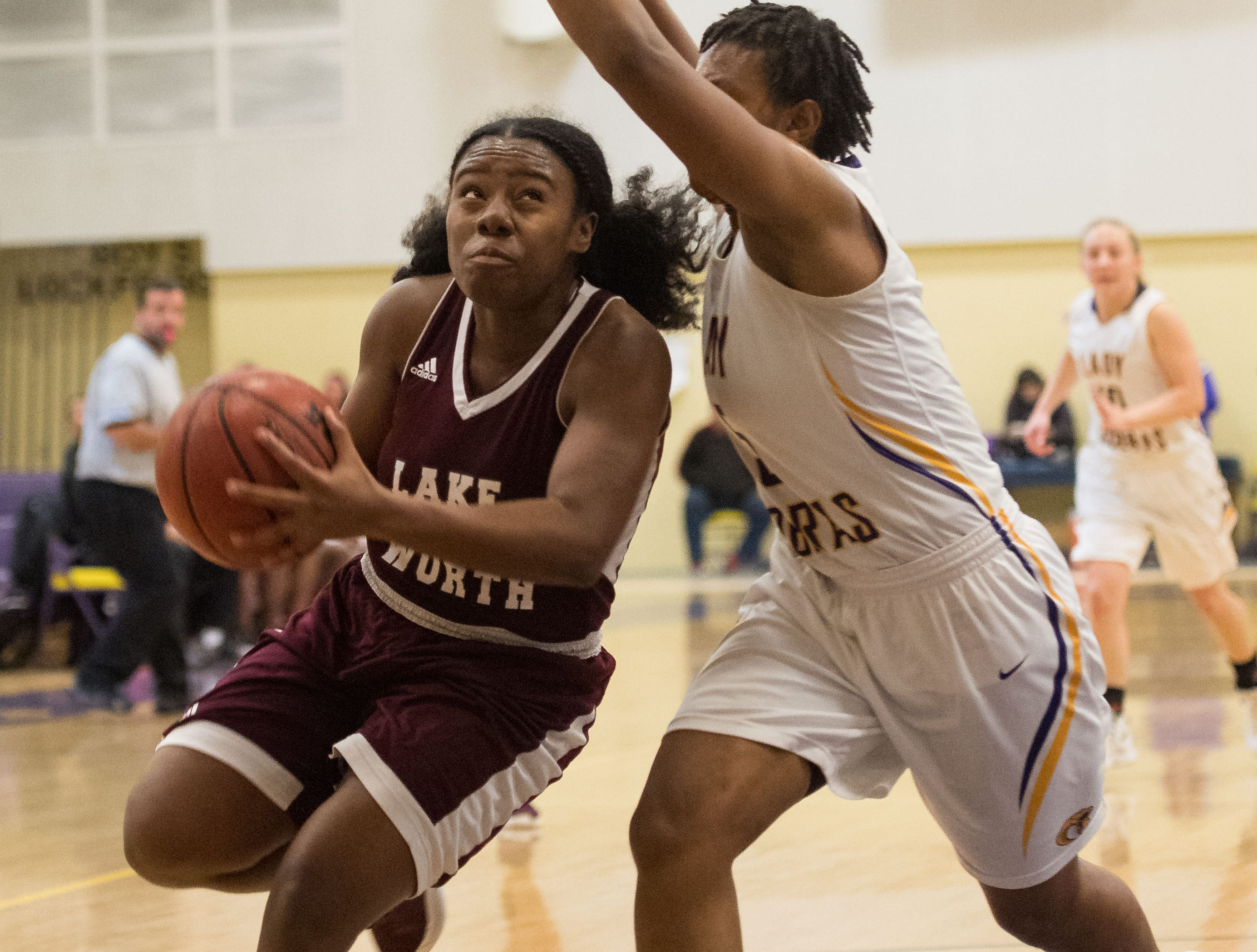 Fort Pierce Central plays against Lake Worth during the high school girls basketball game Thursday, Jan. 31, 2019, at Fort Pierce Central High School.