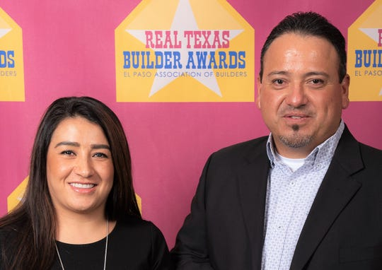 Valerie and Juan Bacquera, owners of Diamond Homes, which won the Best Custom Home Builder award, and other awards in the first Real Texas Builder Awards competition in El Paso.