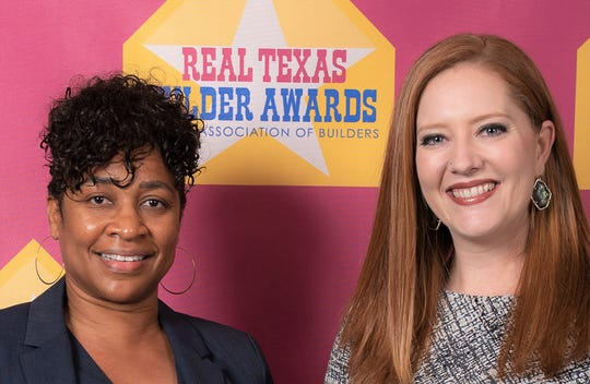 Carla Smith, left, and Mollie Stopani, sales agents for Tropicana Homes, won best salesperson and top Realtor awards in the first Real Texas Builder Awards competition by the El Paso Association of Builders.