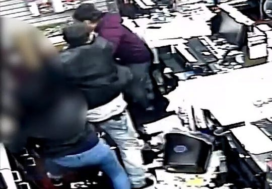 Two men robbed a Game Stop store at 1830 N. Zaragoza Road on Saturday, Jan. 12, 2019. One man punched the two female workers.