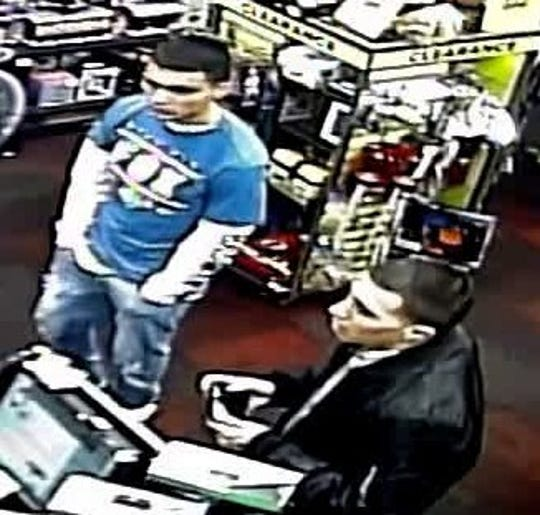A security camera recorded two men during a robbery of GameStop video gaming store at 1830 N. Zaragoza Road in far East El Paso on Jan. 12, 2019.
