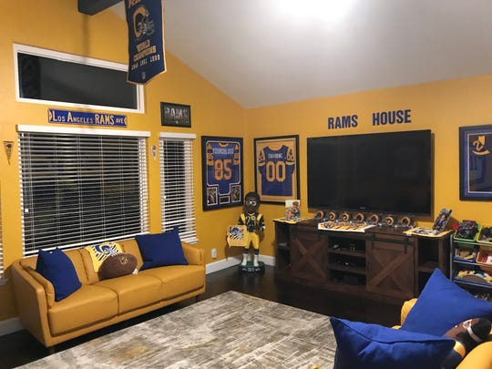 "Rams season-ticket holder Andre Jeanbart has built a ""Rams Room"" in his Westlake Village home."