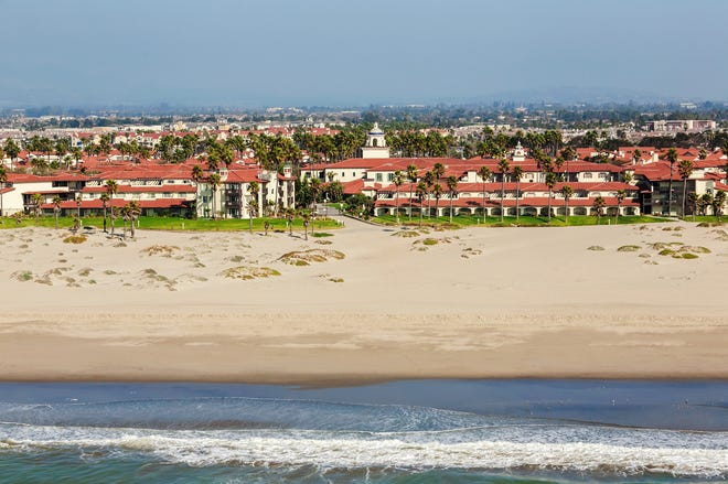 A view of Embassy Suites by Hilton Mandalay Beach Resort in Oxnard.