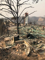 The Dybvik family's Ventura home on Sunset View Court was among those burned in the Thomas Fire in December 2017.