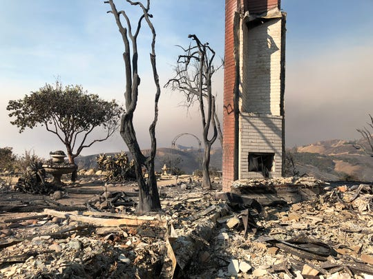 The Dybvik family's Ventura home on Sunset View Court was among those burned in the Thomas Fire in December of 2017.