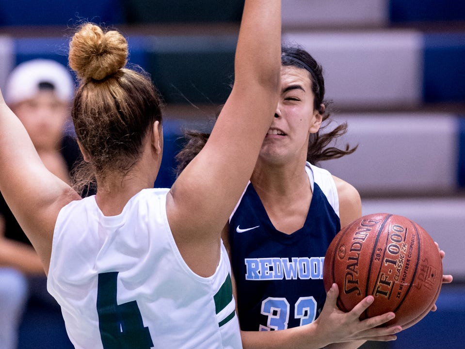 El Diamante hosts Redwood in a girls basketball game on Thursday, January 31, 2019.