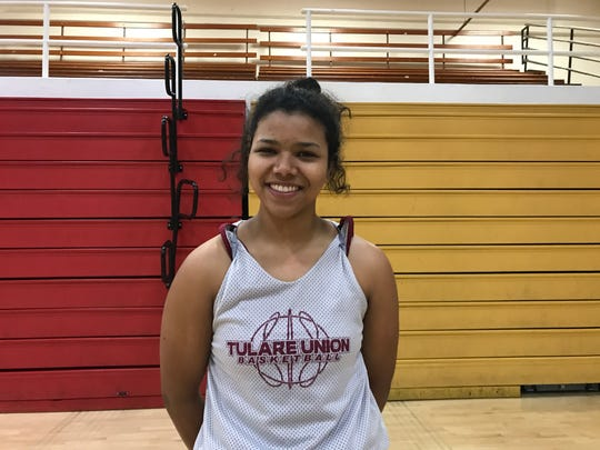 Kiara Brown is a senior on the Tulare Union High girls basketball team.