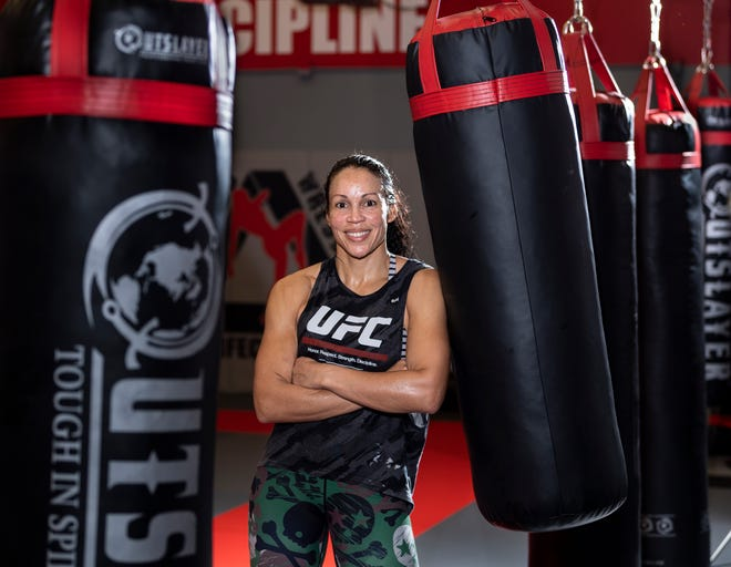 Visalia resident and UFC fighter Marion Reneau on Thursday, January 31, 2019.