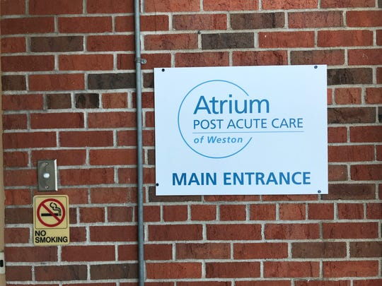 The main entrance to Atrium Post Acute Care of Weston. The senior living home closed abruptly on Jan. 23, despite a notice from the state compelling them not to close without a relocation plan, as it would be against Wisconsin law.