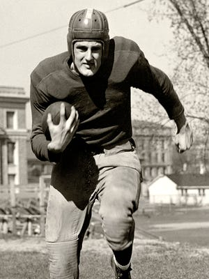 """Elroy """"Crazylegs"""" Hirsch of Wausau was a star running back for the Wisconsin Badgers and Los Angeles Rams in the 1940s and '50s. He left the Rams in 1969 to become UW athletic director."""