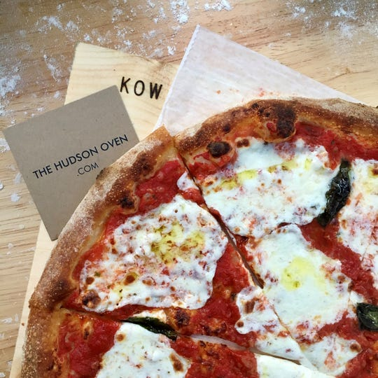 A pizza from The Hudson Oven.