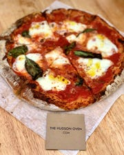 One of Chase Fox Harnett's pizzas from his The Hudson Over mobile pizza truck.