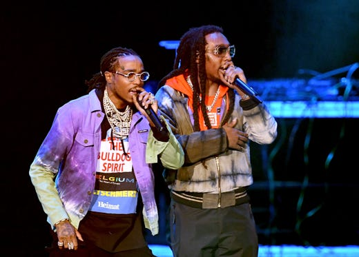 Quavo and Takeoff of Migos perform onstage during Bud Light Super Bowl Music Fest / EA SPORTS BOWL at State Farm Arena on January 31, 2019 in Atlanta, Georgia.