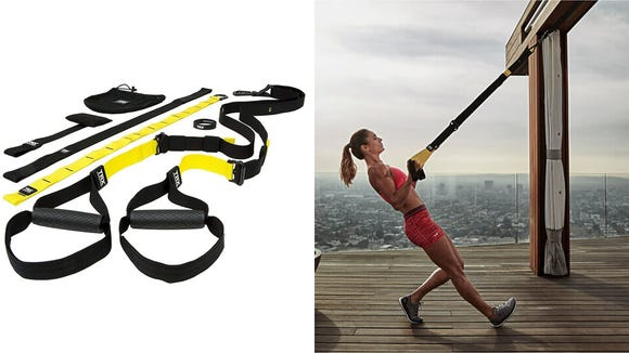 Work out anywhere with these suspension trainers.