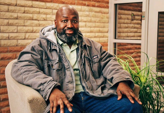Matthew Charles, who was released from prison after 21 years as a result of retroactive drug sentencing guideline changes, discusses his legal challenges at Nashville Public Radio in Nashville on Dec. 17, 2017.