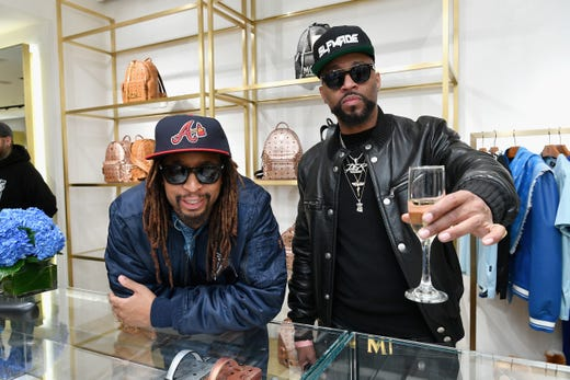 ATLANTA, GA - FEBRUARY 01:  Lil Jon (L) and Drumma Boy attend MCM x Super Bowl LIII on January 24, 2019 in Atlanta, Georgia.  (Photo by Dia Dipasupil/Getty Images for MCM) ORG XMIT: 775288698 ORIG FILE ID: 1092098260