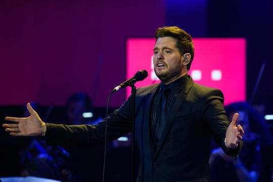 Michael Buble performs during the Telekom Street Gigs at Wappenhalle on December 4, 2018, in Munich, Germany.