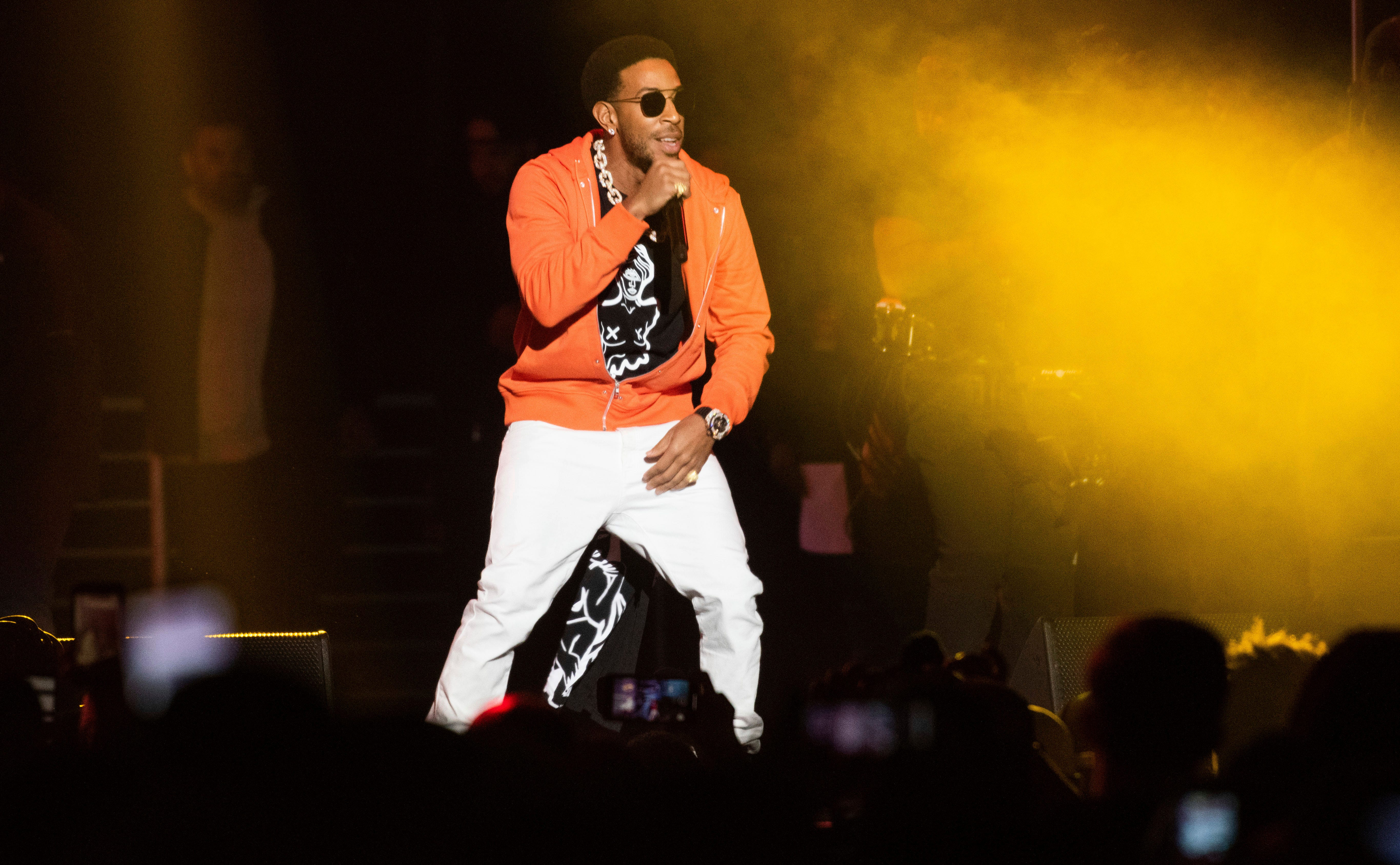 Ludacris performs on stage at the Bud Light Super Bowl Music Fest at the State Farm Arena on Thursday, Jan. 31, 2019, in Atlanta.
