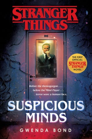 "The cover for ""Stranger Things"" prequel book ""Suspicious Minds."""