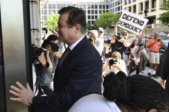 Paul Manafort arrives June 15, 2018, for a hearing at U.S. District Court on in Washington, DC.