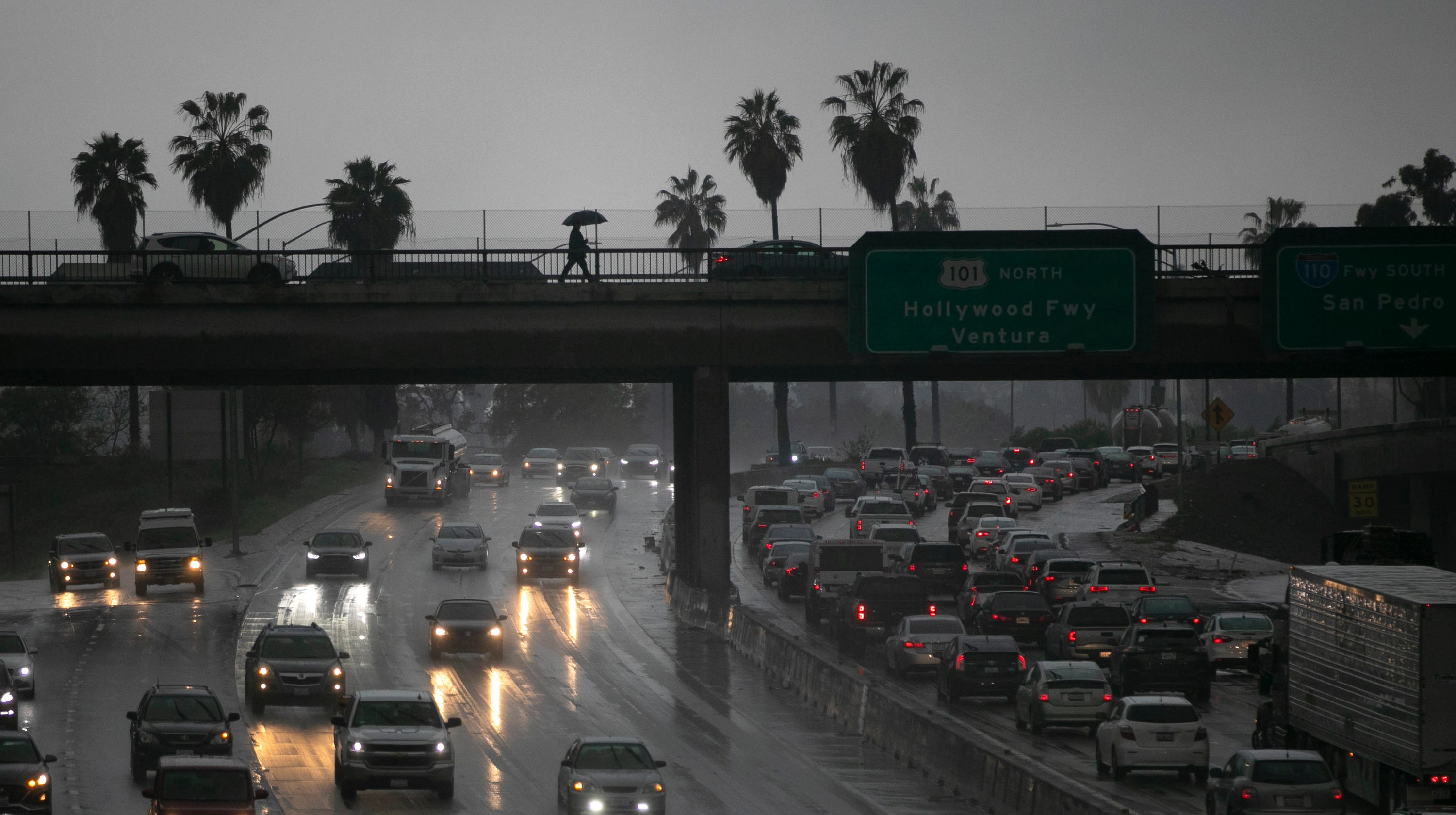 California storm brings mudslides, floods, rain, howling winds