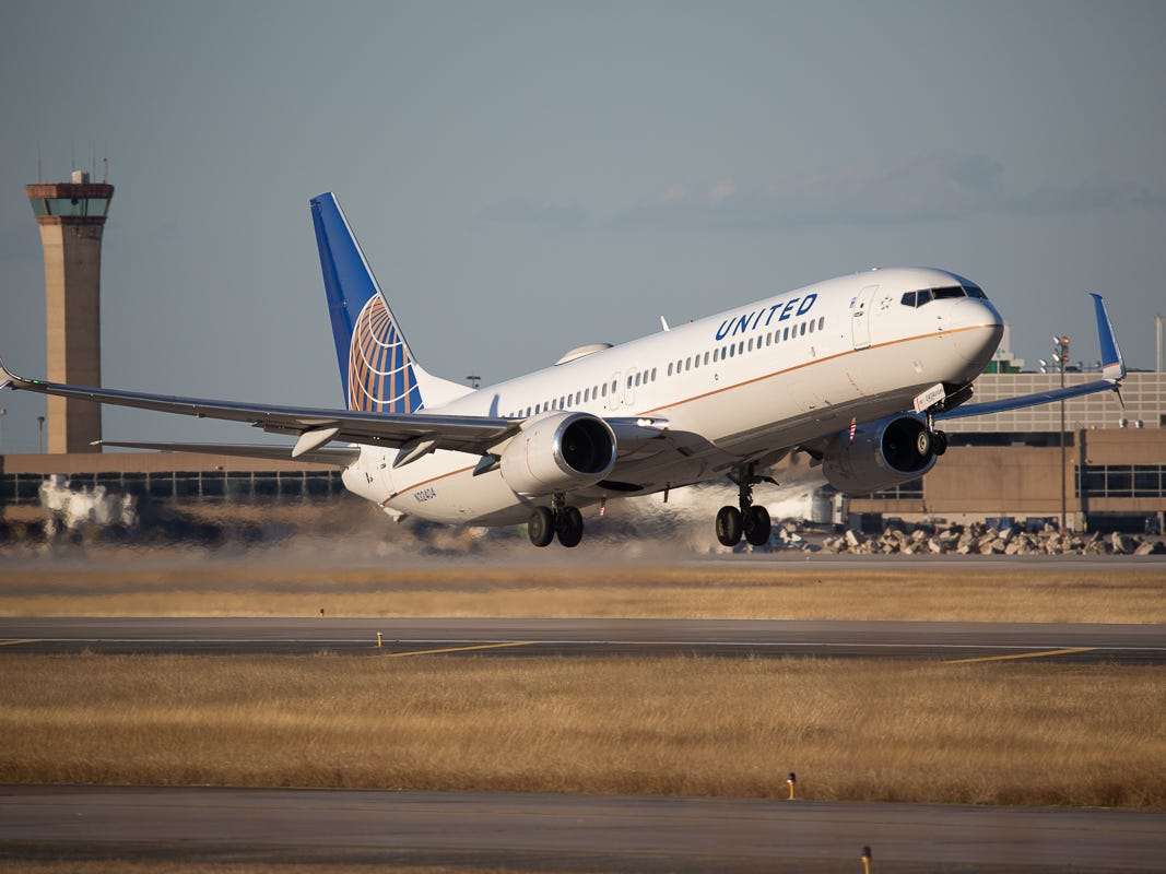 A United Airlines Boeing 737 takes off from George Bush Intercontinental Airport in Houston on Jan. 27, 2019.