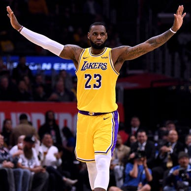 The King goes Hollywood: LeBron with the Lakers
