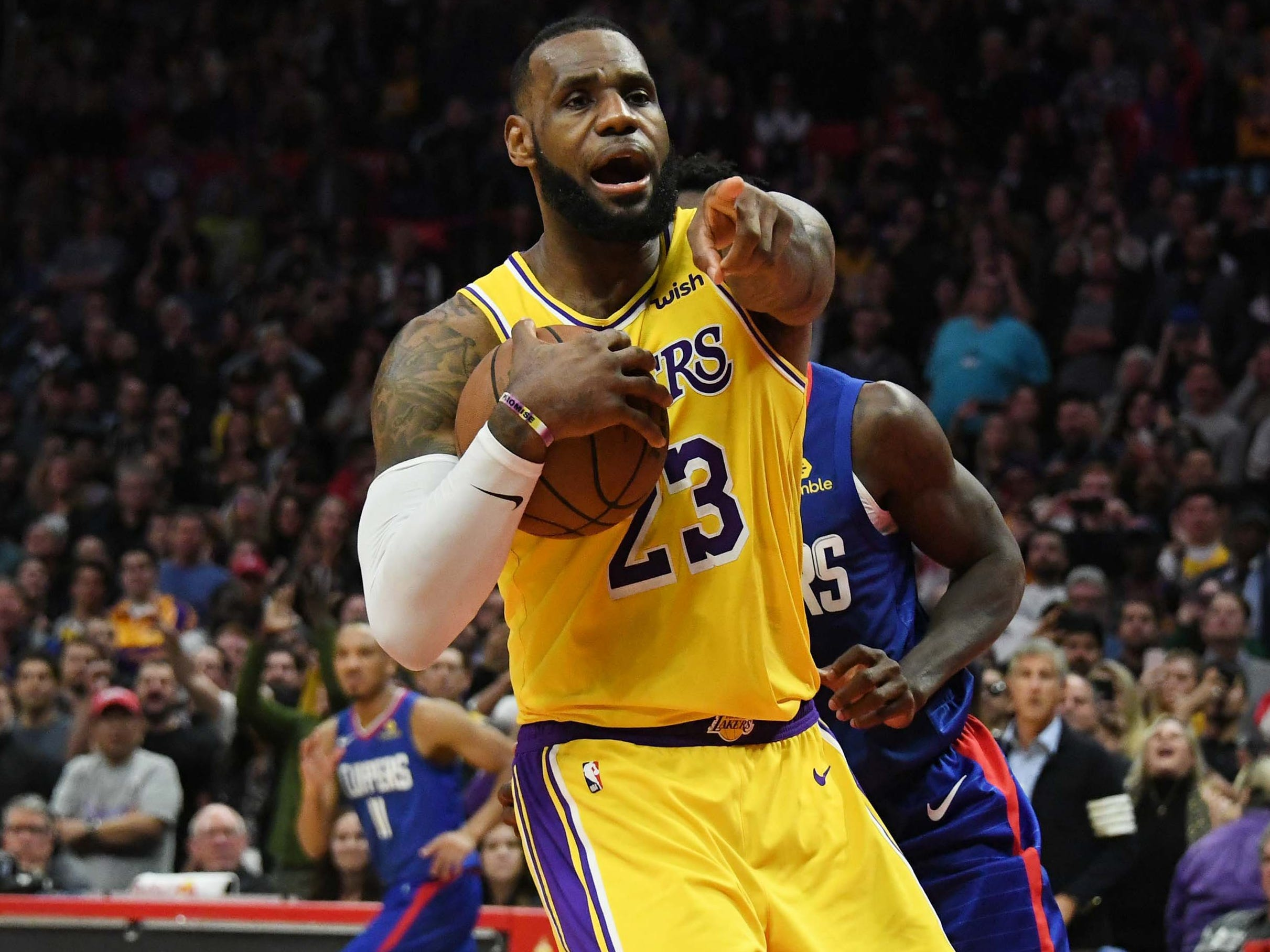 Jan. 31, 2019: After the longest injury absence of his career, LeBron James returned to the court to lead the Lakers to a 123-120 overtime win over the Clippers.