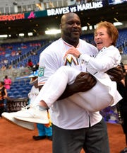 Not sure if Judge Judy will be at Shaquille O'Neal's Super Bowl party on Friday, but she's been known to get carried away with him.