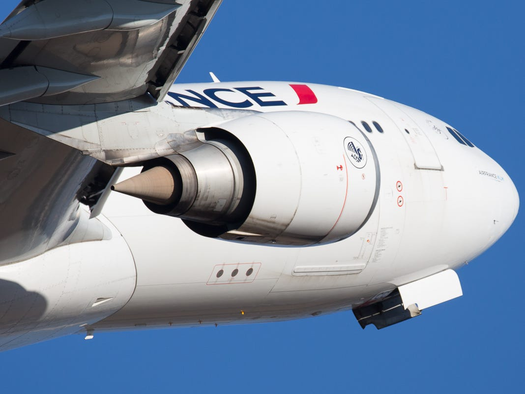 An Air France Airbus A330 takes off for Paris from George Bush Intercontinental Airport in Houston on Jan. 27, 2019.