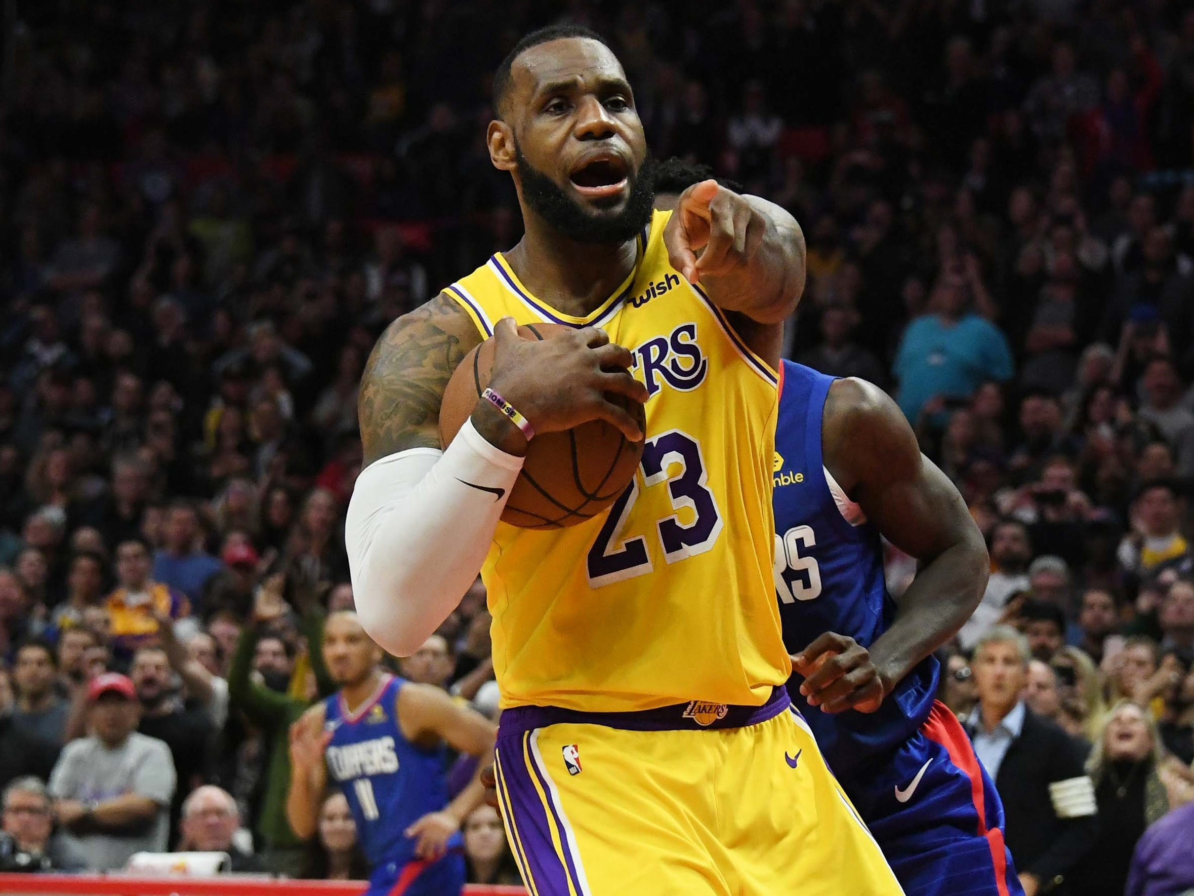 Jan. 31: LeBron James returned to the court following the longest injury absence of his career, leading the Lakers to a 123-120 win over the Clippers after missing 17 games with a strained groin.