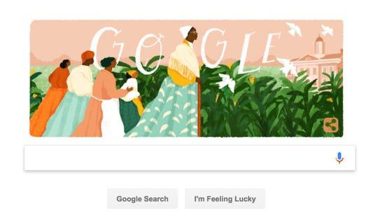 A Google Doodle honoring abolitionist Sojourner Truth.