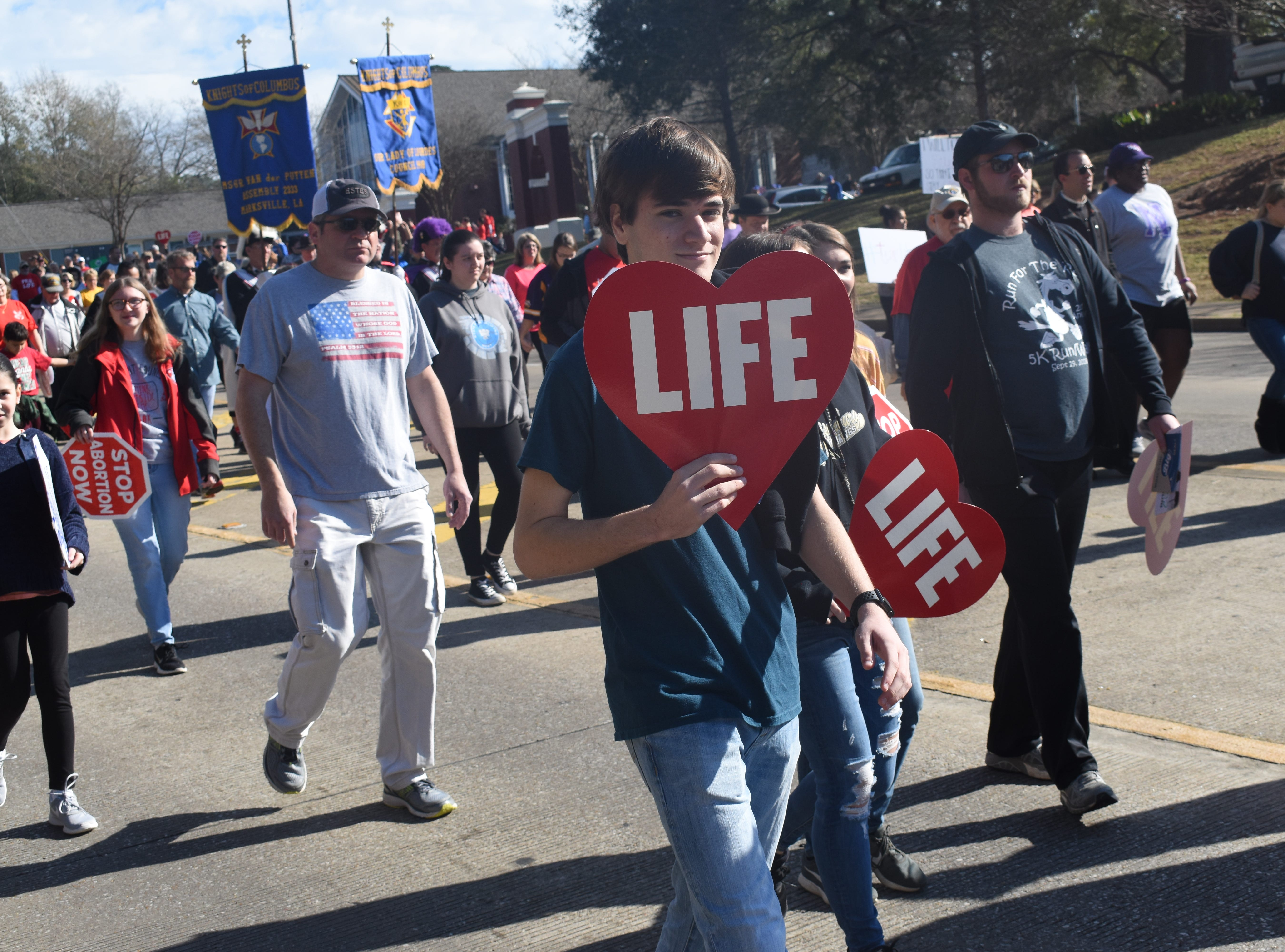 The Cenla March for Life, hosted by Louisiana Right to Life, was held Saturday, Feb. 2, 2019. The march started at Louisiana College in Pineville and ended at the amphitheater in downtown Alexandria. About 3,000 participated in the march. The event was sponsored by Louisiana Right to Life, Louisiana College, Louisiana Baptist Convention, Catholic Diocese of Alexandria, United Pentecostal Church of Louisiana, Louisiana Family Forum, the Knights of Columbus and Concerned Women for America. The purpose of the march, according to the Website www.prolifelouisiana.org is to have an abortion-free Louisiana.