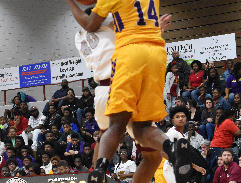 Pineville High School boys hosted Alexandria Senior High School Friday, Feb. 1, 2019. Pineville won 63-60 in overtime.