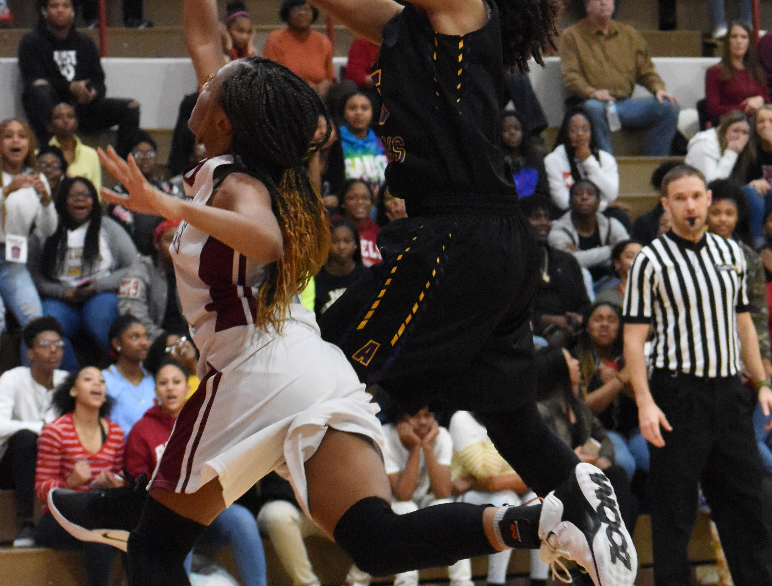 Pineville High School girls hosted Alexandria Senior High School Friday, Feb. 1, 2019. ASH won 55-43.