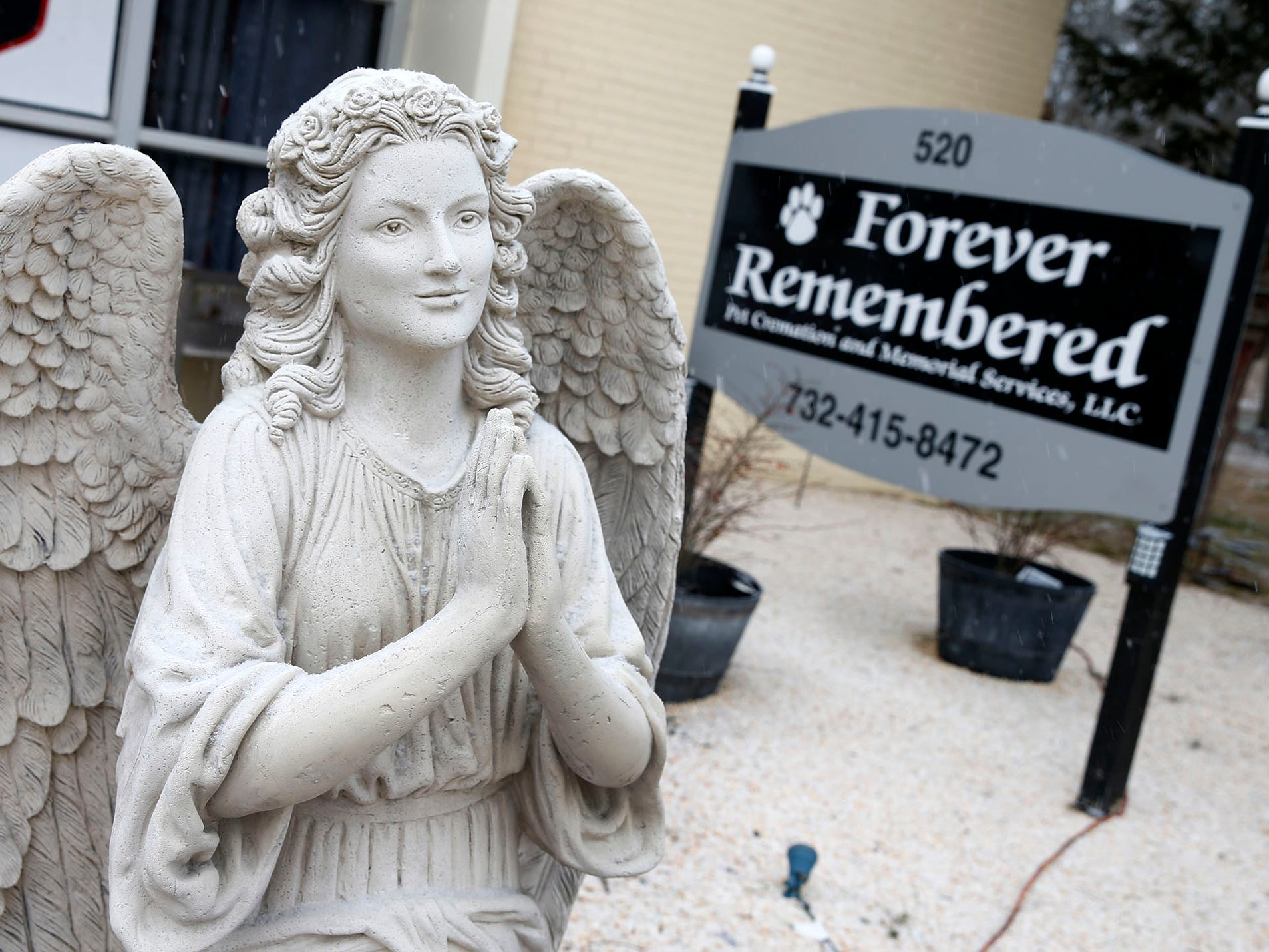 "Exterior of ""Forever Remembered Pet Cremation and Memorial Services"" in  Jackson Township Friday afternoon, February 1, 2019.  The business provides pet removal and honorable pet cremations, funeral and memorial services, and grief counseling following the loss of a pet."
