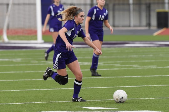 Wylie's Jacqueline Williams (20) signed to play at NCAA Division II Missouri Southern State University this past weekend to continue her soccer career. Williams and the Lady Bulldogs play their final nondistrict game at Dumas on Friday.