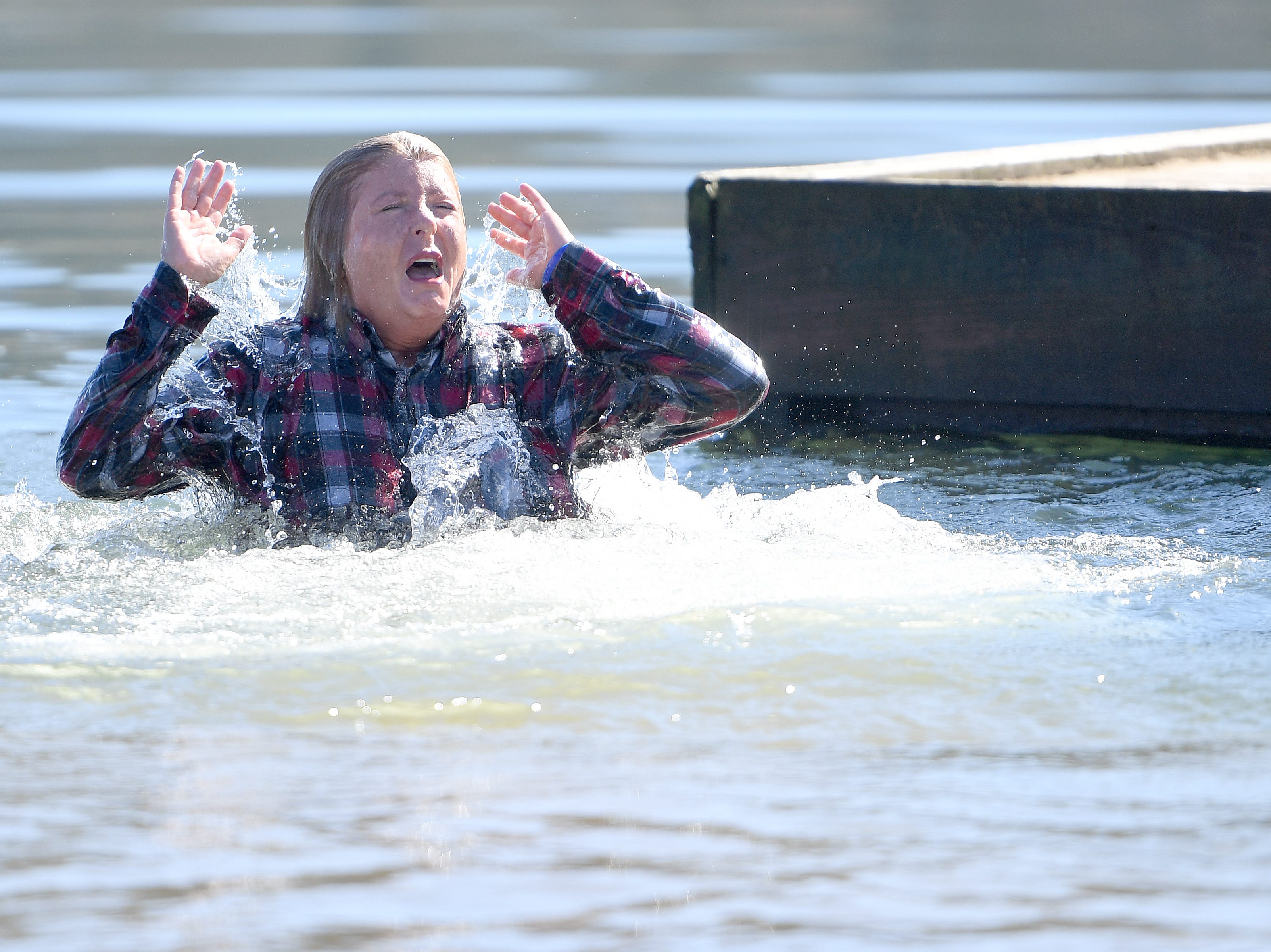 The 7th Annual Plunge at Lake Junaluska Conference and Retreat Center raised more than $30,000 for Kids in the Creek and environmental education on Feb. 2, 2019.
