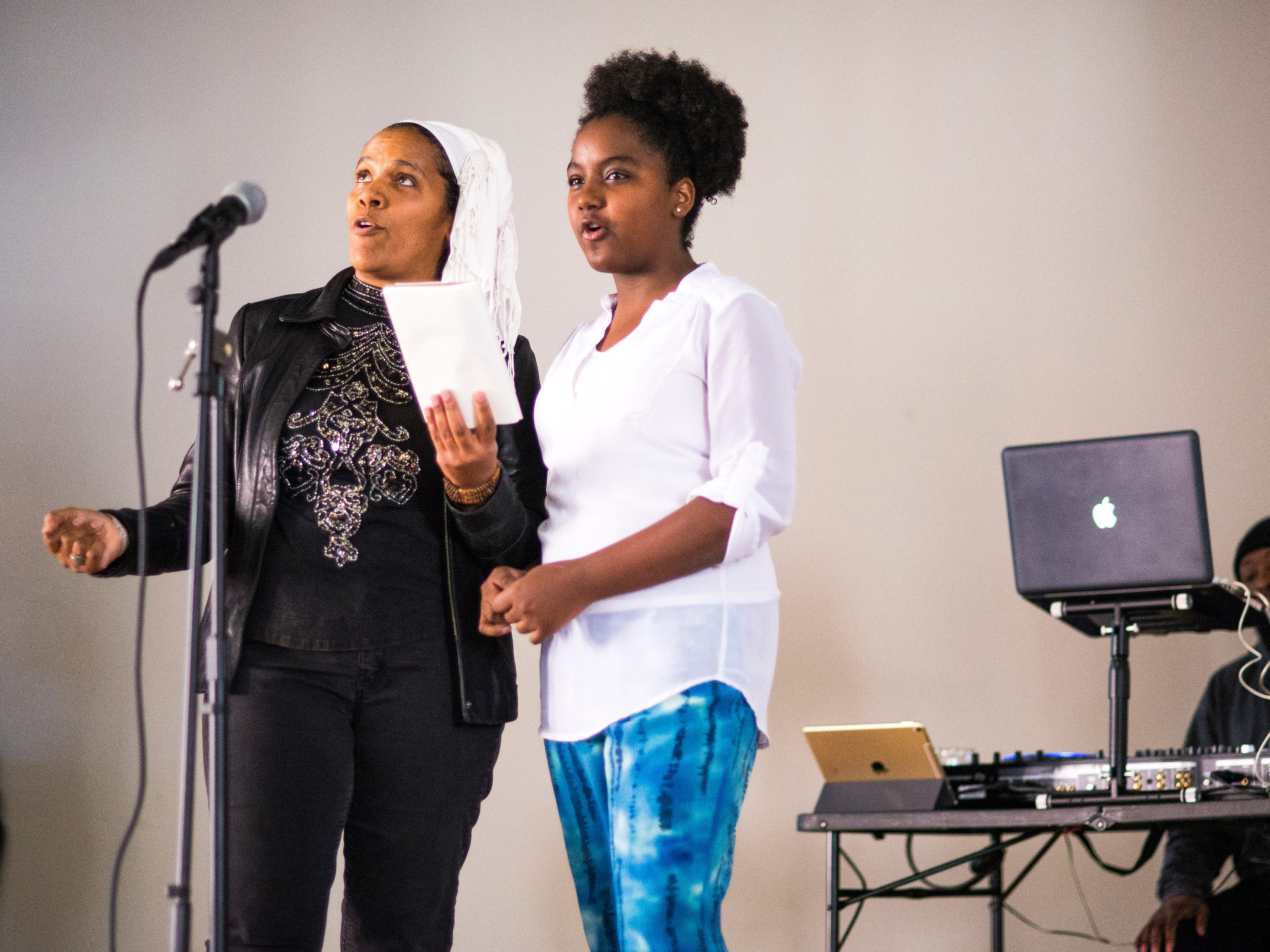 Melissa Henry and her daughter Charissa Thomason sing To Be Young, Gifted and Black by Nina Simone.
