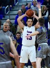 Maine-Endwell High School at Owego Free Academy boys varsity basketball. Friday, February 1, 2019.