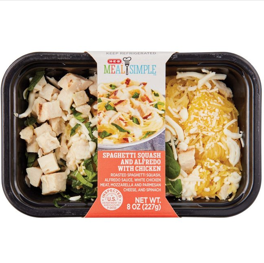 The United States Department of Agriculture Food Safety and Inspection has issued a recall on H-E-B Meal Simple Roasted Spaghetti Squash with Alfredo and Chicken Saturday, Feb. 2, 2019. The food was recalled due to incorrect labeling.