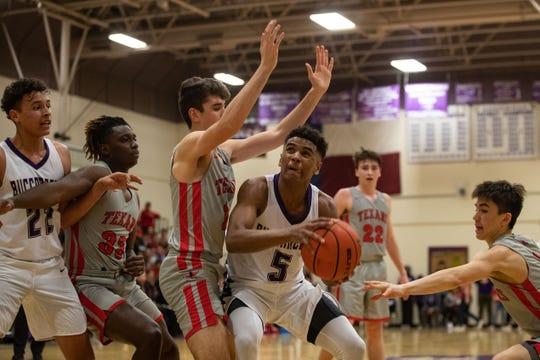 Miller boys basketball team defeats Ray at Miller High School on Friday, Feb. 1, 2019.