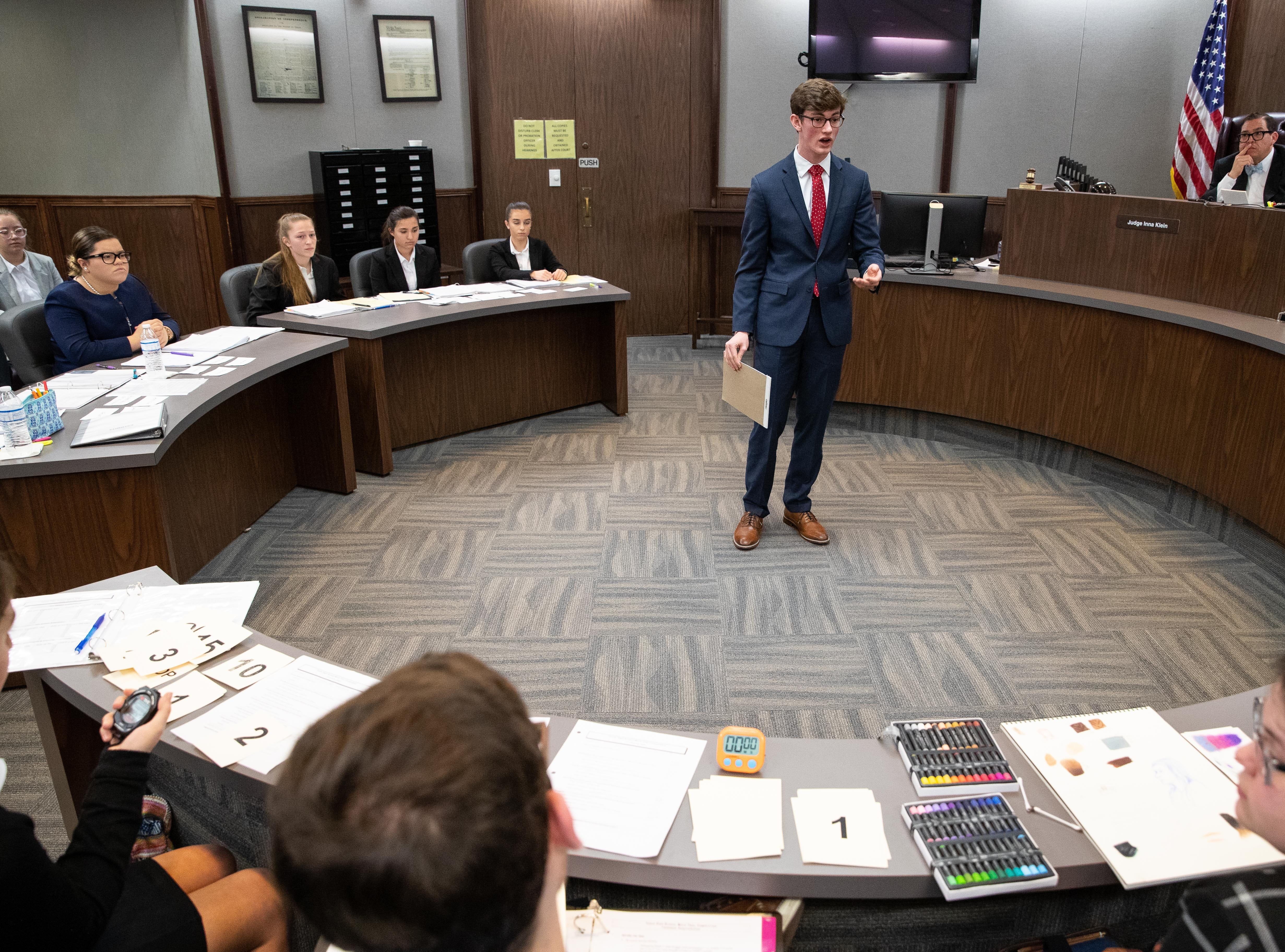 Tuloso Midway competes against London in a Mock Trial competition at the Nueces County Courthouse on Saturday, Feb. 2, 2019.