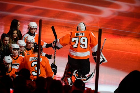 Carter Hart is aiming to be the first goalie to have an eight-game win streak before his 21st birthday since Jocelyn Thibault in 1995.
