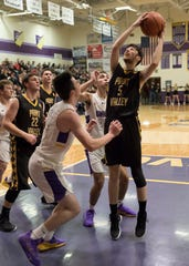 Paint Valley, a seven seed in a Division III Southeast District Bracket, fell to 10-seeded Lucasville Valley 58-44 in the sectional semifinal on Monday at Waverly High School.