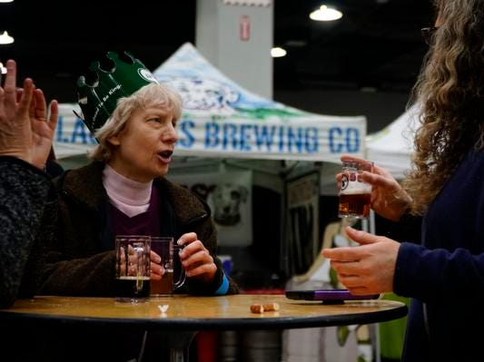 This year was Jeanne Wetson's first time attending the Cincy Winter Beerfest at the Duke Energy Convention Center, Saturday, Feb. 2, 2019.