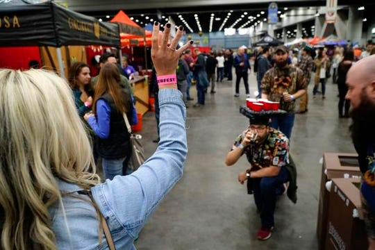 at the Cincy Winter Beerfest in the Duke Energy Convention Center, Saturday, Feb. 2nd, 2019.