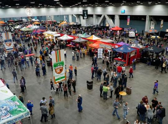 Nearly 3000 people attended the afternoon tasting session at the Cincy Winter Beerfest in the Duke Energy Convention Center, Saturday, Feb. 2, 2019. Organizers estimated that the crowd would swell to over 9000 by the evening.