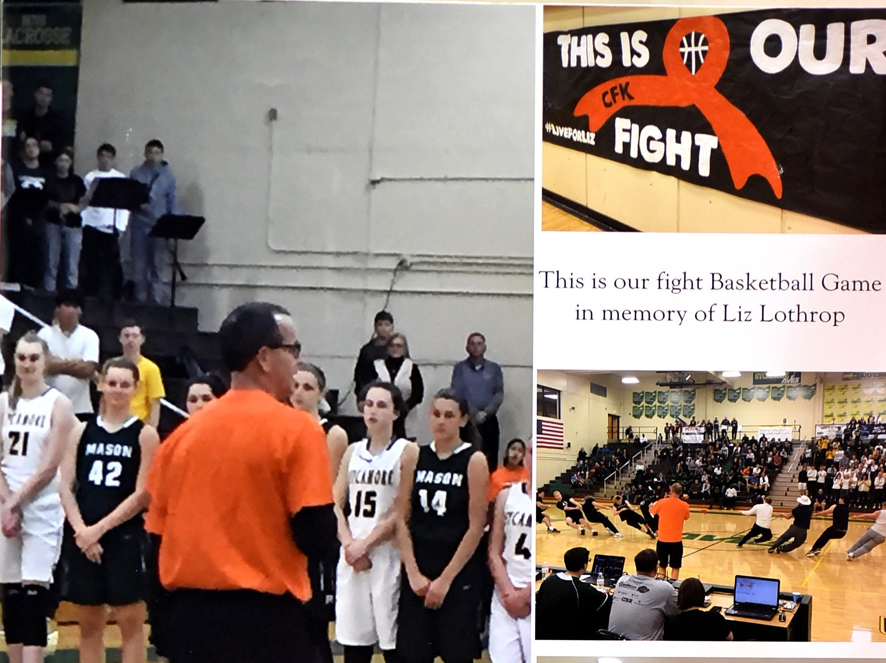 Time for the 3rd Annual Live for Liz Fight For Cancer Free Kids Basketball Game, February 1, 2019.