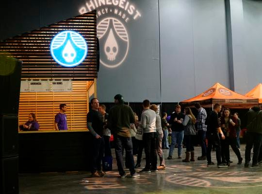 Cincinnati's Rhinegeist Brewing at the Cincy Winter Beerfest in the Duke Energy Convention Center, Saturday, Feb. 2, 2019.